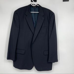 Men's JoS. A Banks 100% Wool Black Sports Coat 48R